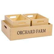 Home Essentials and Beyond 3 Piece Orchard Box Set