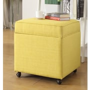 Inspired Home Co. Michael Ottoman; Yellow