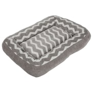 Precision Pet Low Bumper Zig Zag Bolster Dog Bed