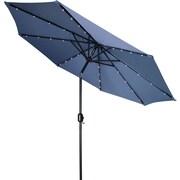 Trademark Innovations 9' Deluxe Illuminated Umbrella; Blue