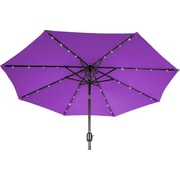 Trademark Innovations 9' Deluxe Illuminated Umbrella; Purple