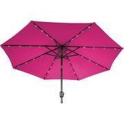 Trademark Innovations 9' Deluxe Illuminated Umbrella; Rose