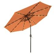 Trademark Innovations 9' Deluxe Illuminated Umbrella; Orange