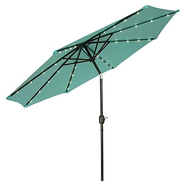 Trademark Innovations 9' Deluxe Illuminated Umbrella; Teal