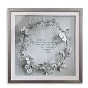 Arthouse Memories 3D Diamante and Glitter Image in Distressed Frame Wall D cor