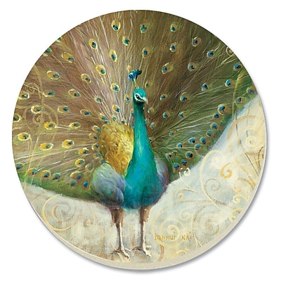 CounterArt Peacock Absorbent Stone Coaster (Set of 4)