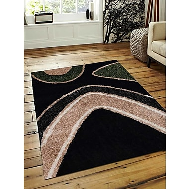 Get My Rugs Hand-Tufted Black Area Rug