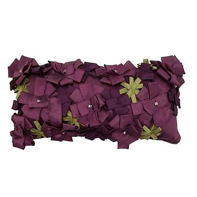 R&MIndustries Origami Rose Lumbar Pillow; Lavender
