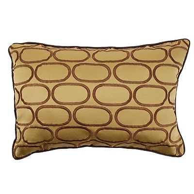 R&MIndustries Pod Embroidery Lumbar Pillow; Dijon