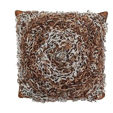 R&MIndustries Circular Chiffon Throw Pillow; Leopard