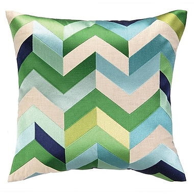 D.L. Rhein Brooke Throw Pillow; Blue/Green