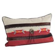 Saro Navajo Southwestern Embroidered Design Lumbar Pillow