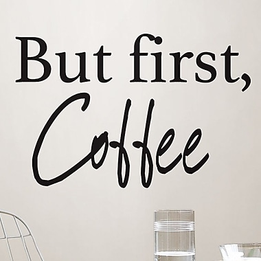 WallPops! Coffee Quote Wall Decal (Set of 6)
