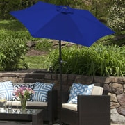 BudgeIndustries SunBlok Patio Market Umbrella w/ Tilt Aluminum Pole; Royal Blue