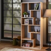 ACME Furniture Cora 71'' Cube Unit Bookcase; Weathered Oak