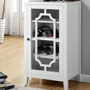 ACME Furniture Fina 8 Bottle Floor Wine Cabinet; White