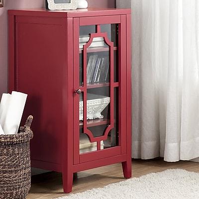 ACME Furniture Fina 8 Bottle Floor Wine Cabinet; Burgundy