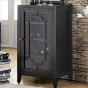 ACME Furniture Fina 8 Bottle Floor Wine Cabinet; Black