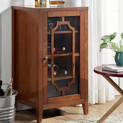 ACME Furniture Fina 8 Bottle Floor Wine Cabinet; Walnut