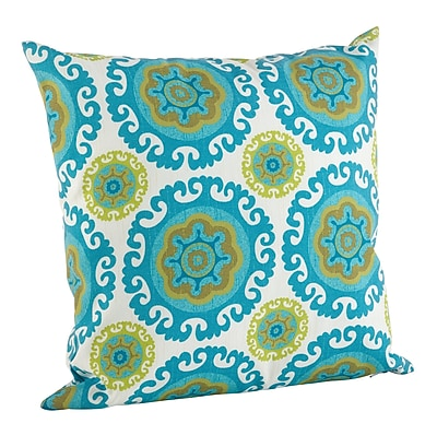 Saro Kaleidoscope Poly Filled Indoor/Outdoor Throw Pillow; 21'' H x 21'' W