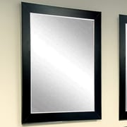 Commercial Value Lobby Design Wall Mirror; Black/Silver