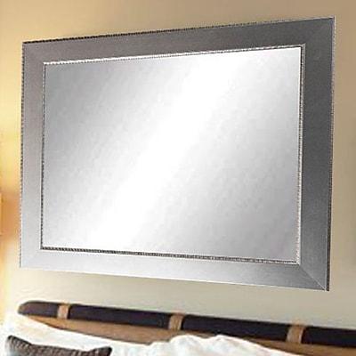 Commercial Value Lobby Design Wall Mirror; Nickel/Silver