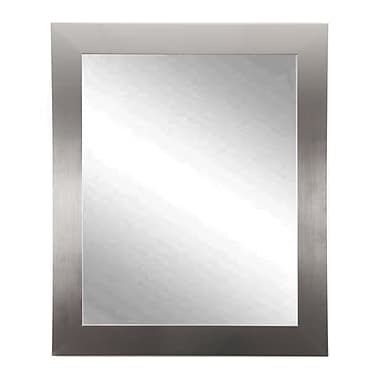 Commercial Value Lobby Design Wall Mirror; Silver