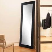 Commercial Value Fitting Room Full Length Wall Mirror; Black