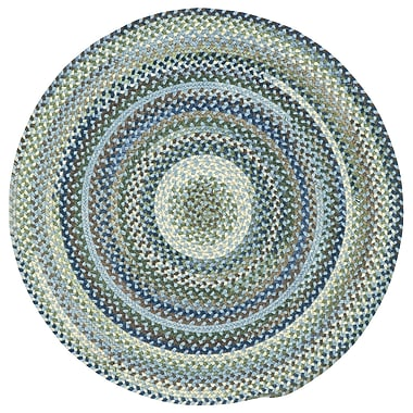 August Grove Florence Light Blue Area Rug; Round 5'6''