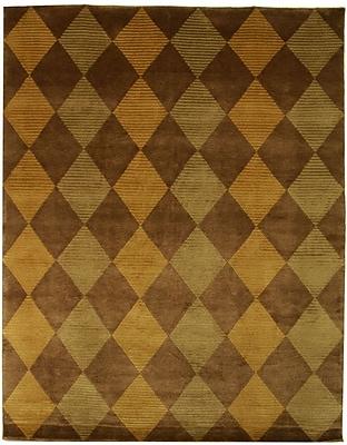 Corrigan Studio Ponderosa Hand-Knotted Brown/Green Area Rug