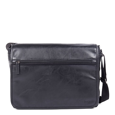 Valentino Messenger Bag in PU, Black