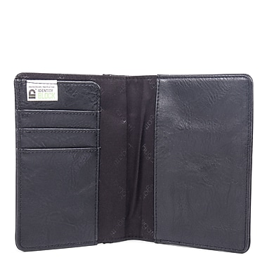 Valentino Passport Cover in PU, Black