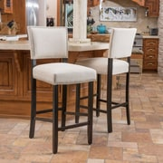 Alcott Hill Cleveland 30.5'' Bar Stool w/ Cushion (Set of 2)