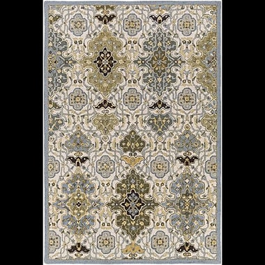 Alcott Hill Pottershill Hand-Tufted Slate/Olive Area Rug; 4' x 6'