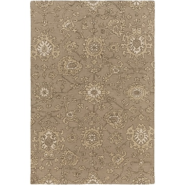 Alcott Hill Langport Hand-Tufted Brown Area Rug; 5' x 7'6''