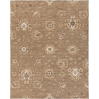 Alcott Hill Langport Hand-Tufted Brown Area Rug; 8' x 10'