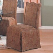 Alcott Hill Burley Oak Parsons Chair (Set of 2); Red / Green Floral