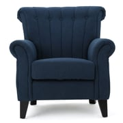 Alcott Hill Fleetwood Arm Chair; Dark Blue