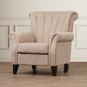 Alcott Hill Fleetwood Arm Chair; Light Mocha