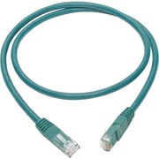 Tripp Lite 3ft Cat6 Gigabit Molded Patch Cable RJ45 M/M 550MHz 24 AWG Green