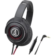 Audio-Technica Solid Bass Over-Ear Headphones with In-line Mic & Control (1Y7936)