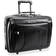 "McKleinUSA 15.6"" Leather Wheeled Laptop Overnight w/ Removable Briefcase"