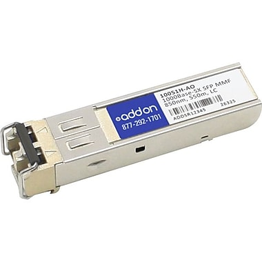 AddOn Extreme Networks 10051H Compatible TAA Compliant 1000Base-SX SFP Transceiver (MMF, 850nm, 550m, LC, Rugged)