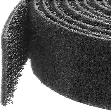 StarTech.com Hook-and-Loop Cable Management Tie, 25 ft. Roll, Black, Cut-to-Size Cable Wrap / Straps