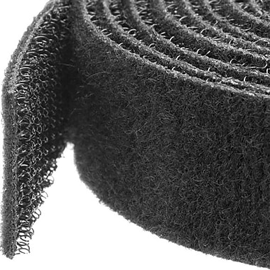 StarTech.com Hook-and-Loop Cable Management Tie, 50 ft. Bulk Roll, Black, Cut-to-Size Cable Wrap / Straps