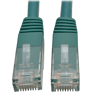 Tripp Lite 5ft Cat6 Gigabit Molded Patch Cable RJ45 M/M 550MHz 24 AWG Green