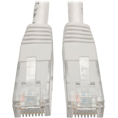Tripp Lite 5ft Cat6 Gigabit Molded Patch Cable RJ45 M/M 550MHz 24 AWG White IM18D9119