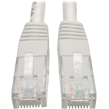 Tripp Lite 5ft Cat6 Gigabit Molded Patch Cable RJ45 M/M 550MHz 24 AWG White (12398091)