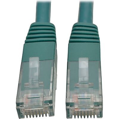 Tripp Lite 7ft Cat6 Gigabit Molded Patch Cable RJ45 M/M 550MHz 24 AWG Green IM18D9120
