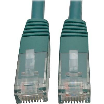 Tripp Lite 10ft Cat6 Gigabit Molded Patch Cable RJ45 M/M 550MHz 24AWG Green IM18D9122